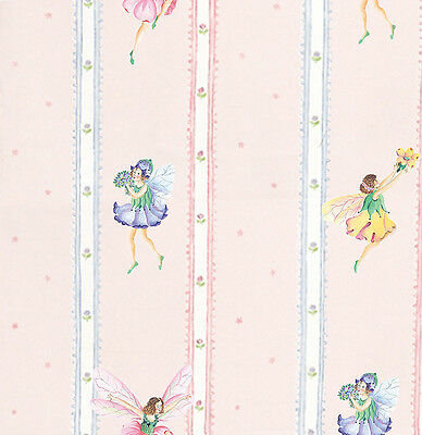 Dolls House Wallpaper 1/12th 1/24th scale Pink Fairies Quality Paper #110