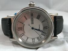 LANGENGRAD AUTOMATIC WATCH SILVER DIAL / BLACK LEATHER