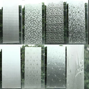 Privacy Frosted Home Bedroom Bathroom Door Window Sticker Glass Film Waterproof Ebay