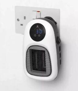 Staywarm 500w plug-in parete potenza Ventilatore Riscaldatore ceramico PTC riscaldatore Socket 2 velocità della ventola