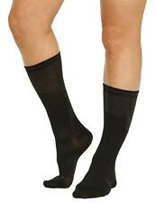 2 Pair Tommie Copper Women's Recovery Compression Dress Crew Sock 7-9.5 shoe