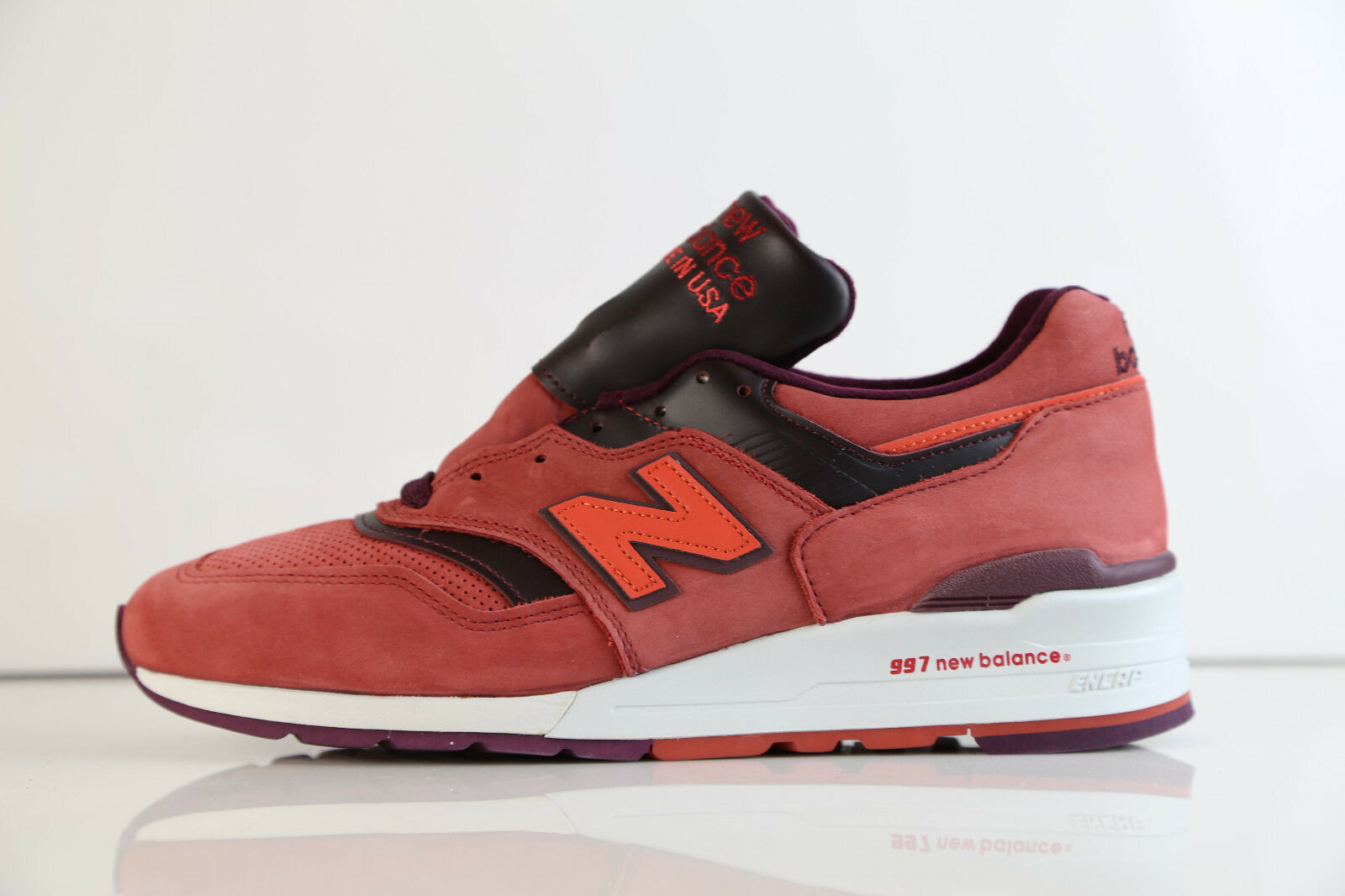 New Balance Made in USA 997 Red Burgundy M997DTAG 8-12 rf suede 1