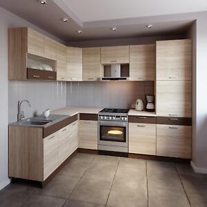 Küche L-Form ALINA mit Hochschrank 180 x 270 cm Küchenzeile ...