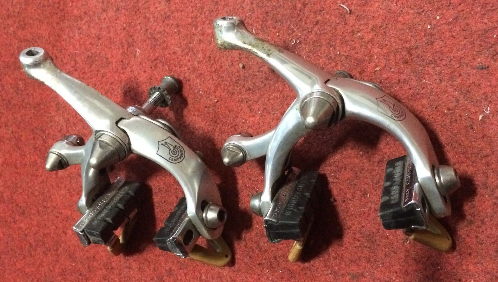 Coppia freni bici corsa Campagnolo vintage road bike brake set couple no roll