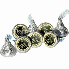 108 Sweet 16 Birthday Hershey Kiss Labels Stickers Party Favors, Gift Bags