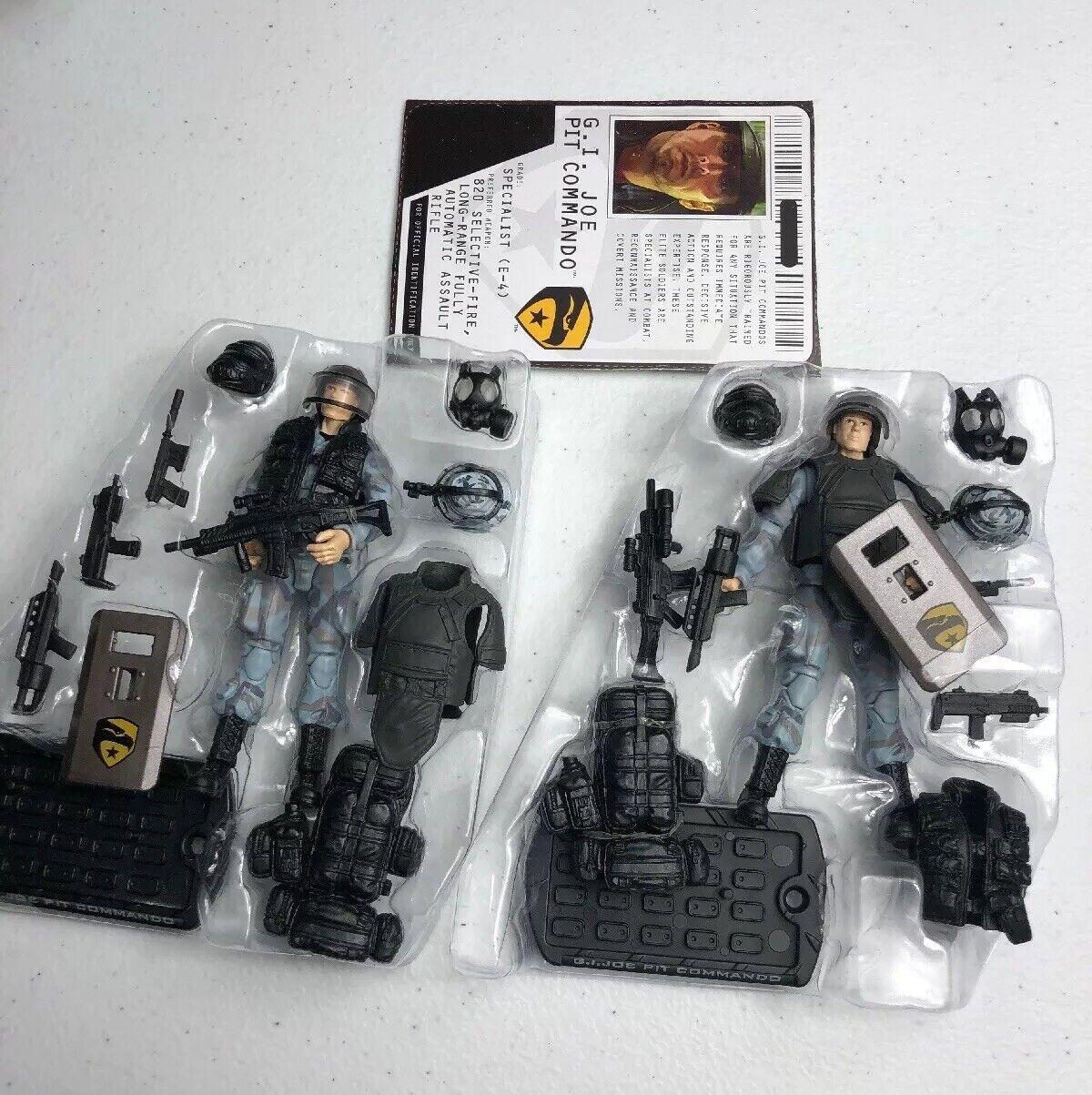GI Joe Cobra ROC RISE OF COBRA figurine lot Pit Commando x2 Army Builder