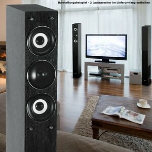 2x lautsprecher mit subwoofer heimkino stand boxen 3 wege. Black Bedroom Furniture Sets. Home Design Ideas