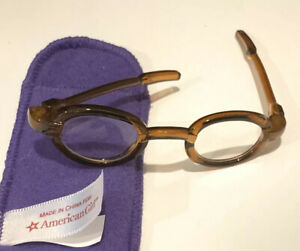 Fit For 18/'/'American Girl Pleasant Company Silver Glasses and Bag New Molly
