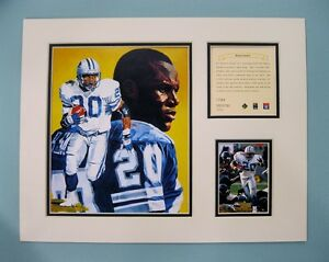 Detroit Lions BARRY SANDERS 1996 NFL Football 11x14 Matted Kelly Russell Print