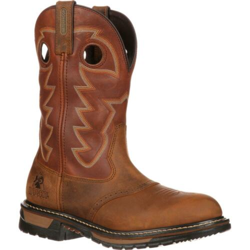 Rocky Original Ride Branson Saddle Roper Western Boot