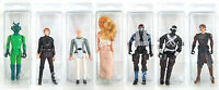Star Wars Action Figure Blister Case Lot (10) Protective Small Stackable Gi Joe