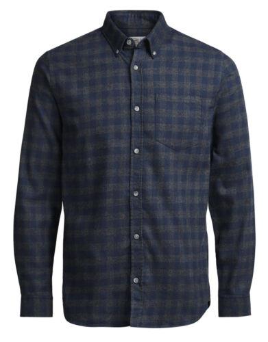 JACK /& JONES William Camicia a maniche lunghe nuova linea uomo Regular fit CHECK SMART Camicie