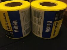 Lot 2 Henry 183 Yellow Flexible Reinforced Roof Repair Fabric 4 In X 150 Ft