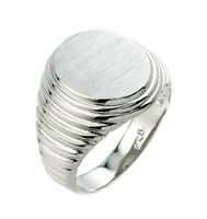 925 Sterling Silver Signet Ring For Men (made In Usa)