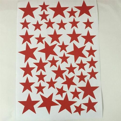 Mixed Size Kids Decal Art Nursery Bedroom Vinyl Decoration Star Wall Stickers