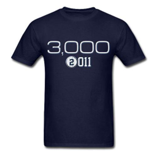 Derek Jeter 3000th Hit T-Shirt 3000 - Yankees Mult Styl