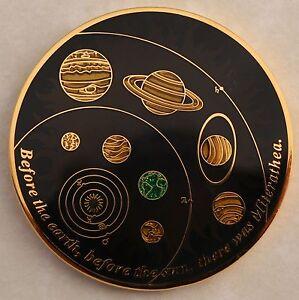 Miterathea Geocoin - Elements of Life Edition - 24 Karat Gold - Sparkle Enamel