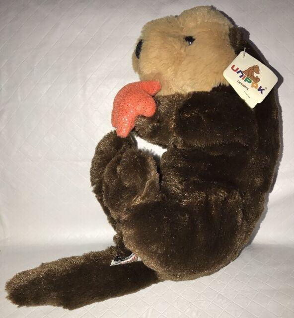 Unipak Sea Ocean Otter Plush Toy Doll Stuffed Animal With Orange