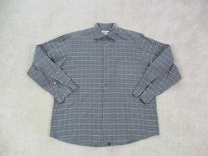 Ermenegildo-Zegna-Button-Up-Shirt-Adult-Large-Gray-Blue-Long-Sleeve-Mens