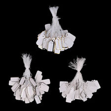 100x Labels Tie String Strung Price Tickets Jewelry Watch Clothing Display Ta Fj