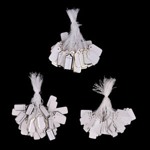 100X-Labels-Tie-String-Strung-Price-Tickets-Jewelry-Watch-Clothing-Display-TagDD