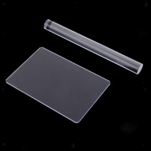 Acrylic Clay Roller with Acrylic Sheet Backing Board for Shaping and Sculpting,