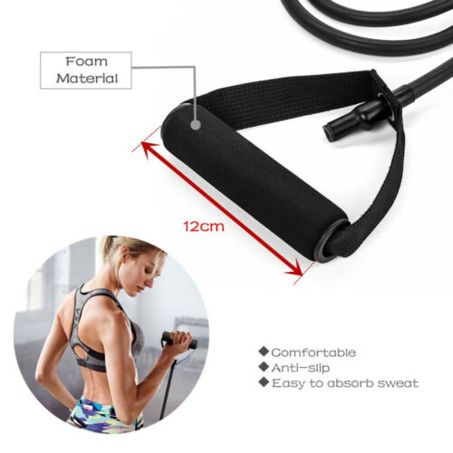 5 Levels Resistance Bands with Handles Yoga Pull Rope Elastic Fitness Exercise