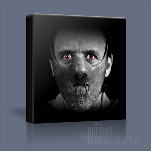 HANNIBAL LECTER MASK STYLISH HORROR ICONIC CANVAS ART PRINT PICTURE Art Williams