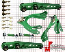 GREEN FRONT REAR UPPER LOWER CONTROL ARM CAMBER SUSPENSION KIT CIVIC 92-95 EG SI
