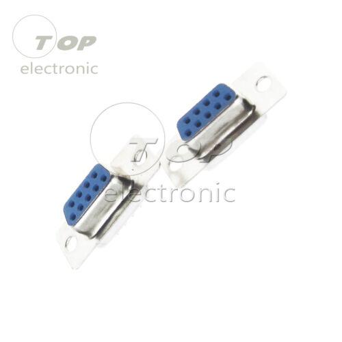 10PCS RS232 DB9 Serial VGA 9 Pin Female Jack VGA Solder Type Plug Connector