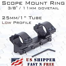 Rifle Scope Mount 3/8 inch 11mm Dovetail 1 inch 25.4mm ring Medium Profile RA30