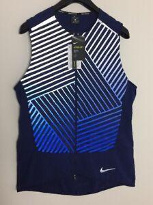 469c1c467874 Nike Aeroloft Flash Men s Running Vest in Binary Blue 859208-429 Sz ...