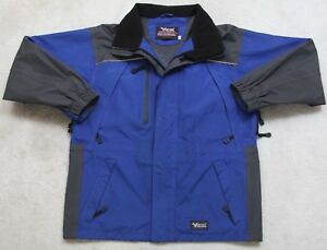 Viking-Tempest-II-Winter-Jacket-Coat-Hooded-Blue-Gray-Black-Medium-Lined-Skiing