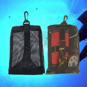 Mesh-Pouch-Gear-Snorkeling-Bag-amp-Clip-For-Scuba-Diving-Underwater-Beach-Picking