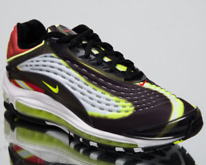 a6757d5460 Nike Air Max Deluxe Men's Lifestyle Shoes Black Volt White Sneakers ...
