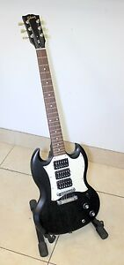 2008-Gibson-SG-3-3-Pickup-Faded-Black-Made-in-USA-with-Soft-Case
