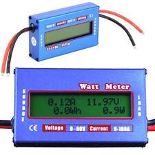 Solar Power Analyzer 60V 100A DC Watt Meter Voltage Digital Battery Monitor New