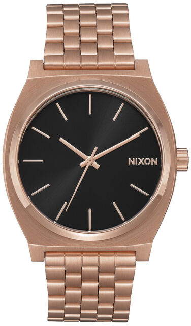 Reloj Hombre Nixon Time Teller A0452598 de Acero inoxidable ba±ado en oro Rosa