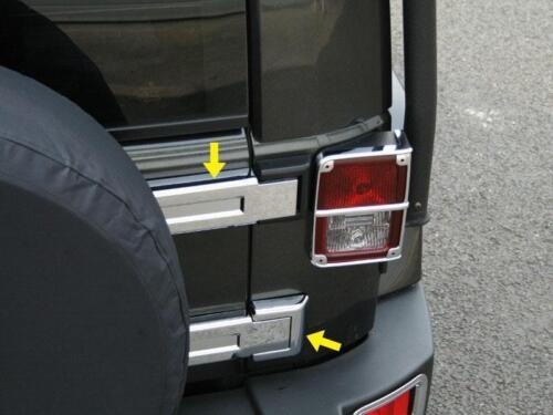 Rear Chrome Tailgate Car Door Hinge Covers Trim For 2007-2018 Jeep Wrangler JK