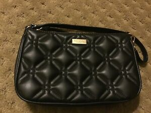 Kate-Spade-New-York-Black-Quilted-Quilted-Leather-Removable-Chain-Mini-Clutch