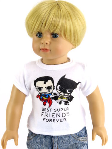 Super Best Friends Forever T Shirt Fits 18 inch American Girl Boy Doll