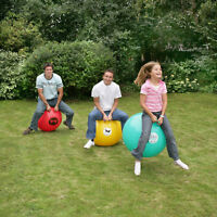 3 Giant Adult Space Hoppers & Pump. Hoppin Mad Teenager Party Garden Game