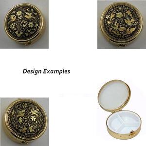 Damascene-Gold-Dove-of-Peace-Flower-Design-Round-Pill-Box-by-Midas-Toledo-Spain