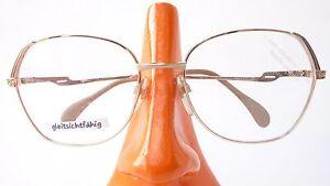 Vintage Schmuckbrille Fassung Gestell Metall Rahmen Glitzergold Neostyle  size M