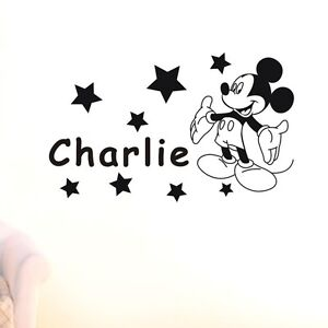 Mickey-Mouse-Stars-Personalised-Custom-Name-Wall-Sticker-Decal-Boy-Girl-Kid-Art