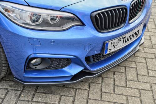 Action spéciale spoiler épée Front Becquet en ABS pour BMW 2er f22 f23 M-Paquet ABE