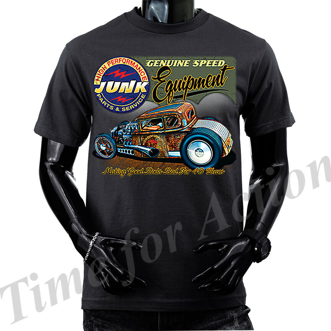 Genuine Speed Equipment Junk Parts Rat Rod Hot Rod Deuce Dickies Work Shirt