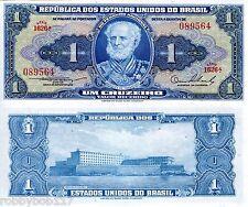 BRAZIL 1 Cruzeiro Banknote World Paper Money Currency p150a 1954-58 BILL Note