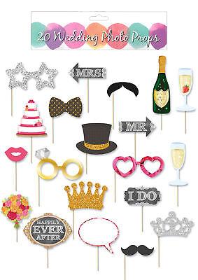 20pc Christmas Photo Prop Set Booth Selfie Props Set Party Decoration Picture
