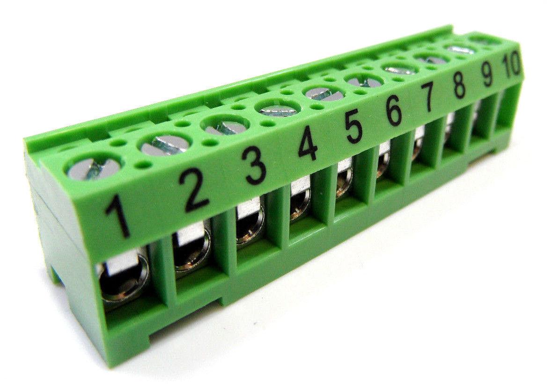 Jandy Zodíaco 6610 Repuesto Terminal Barra 10 Pin Conector - verde Rs